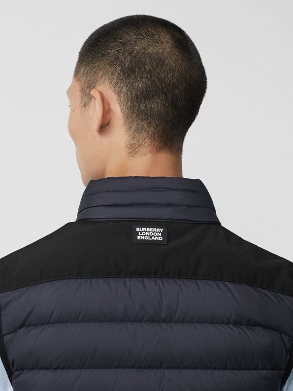 Logo Graphic Puffer Gilet in Navy - Men | Burberry - cell image 1