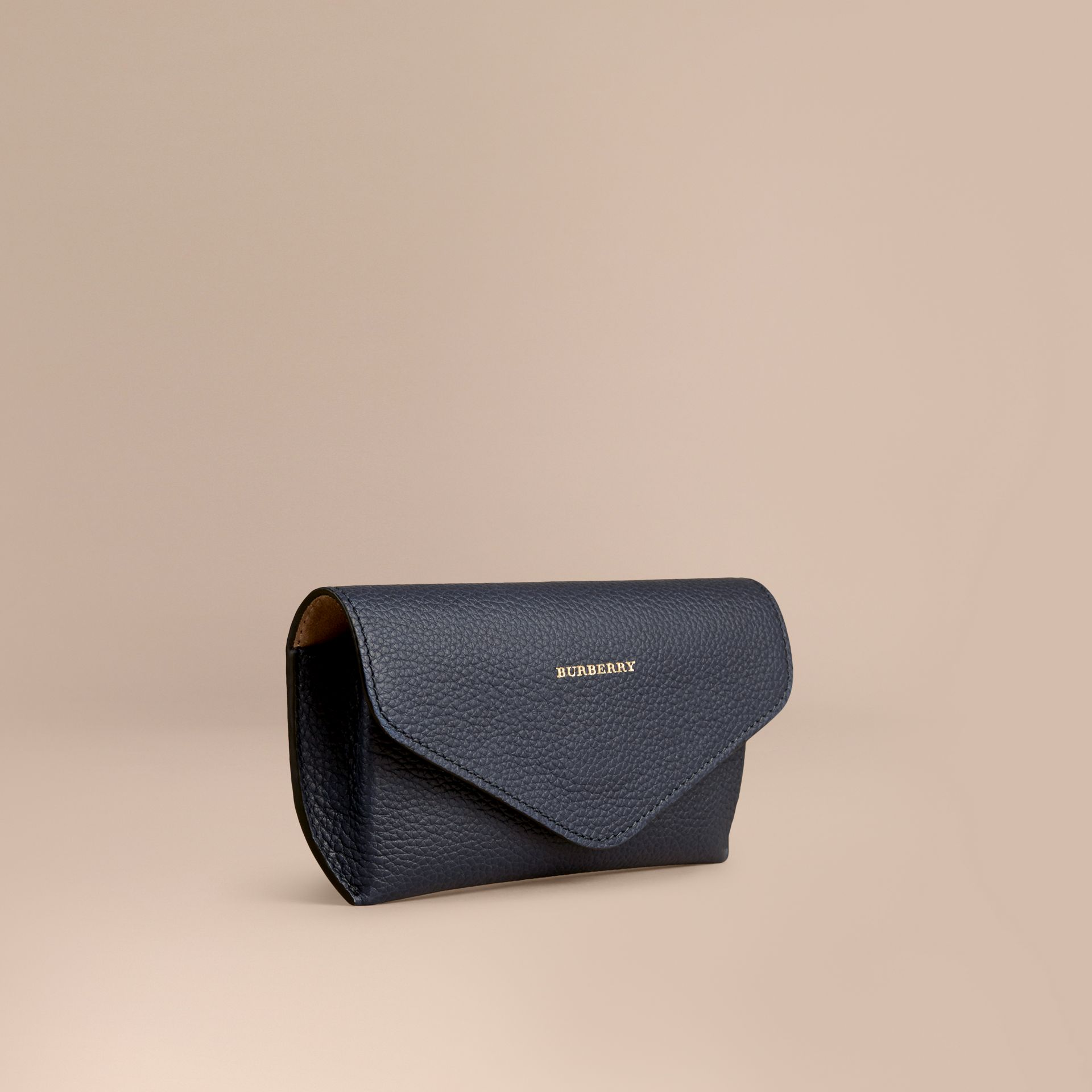 Bright navy Grainy Leather Eyewear Case Bright Navy - gallery image 1
