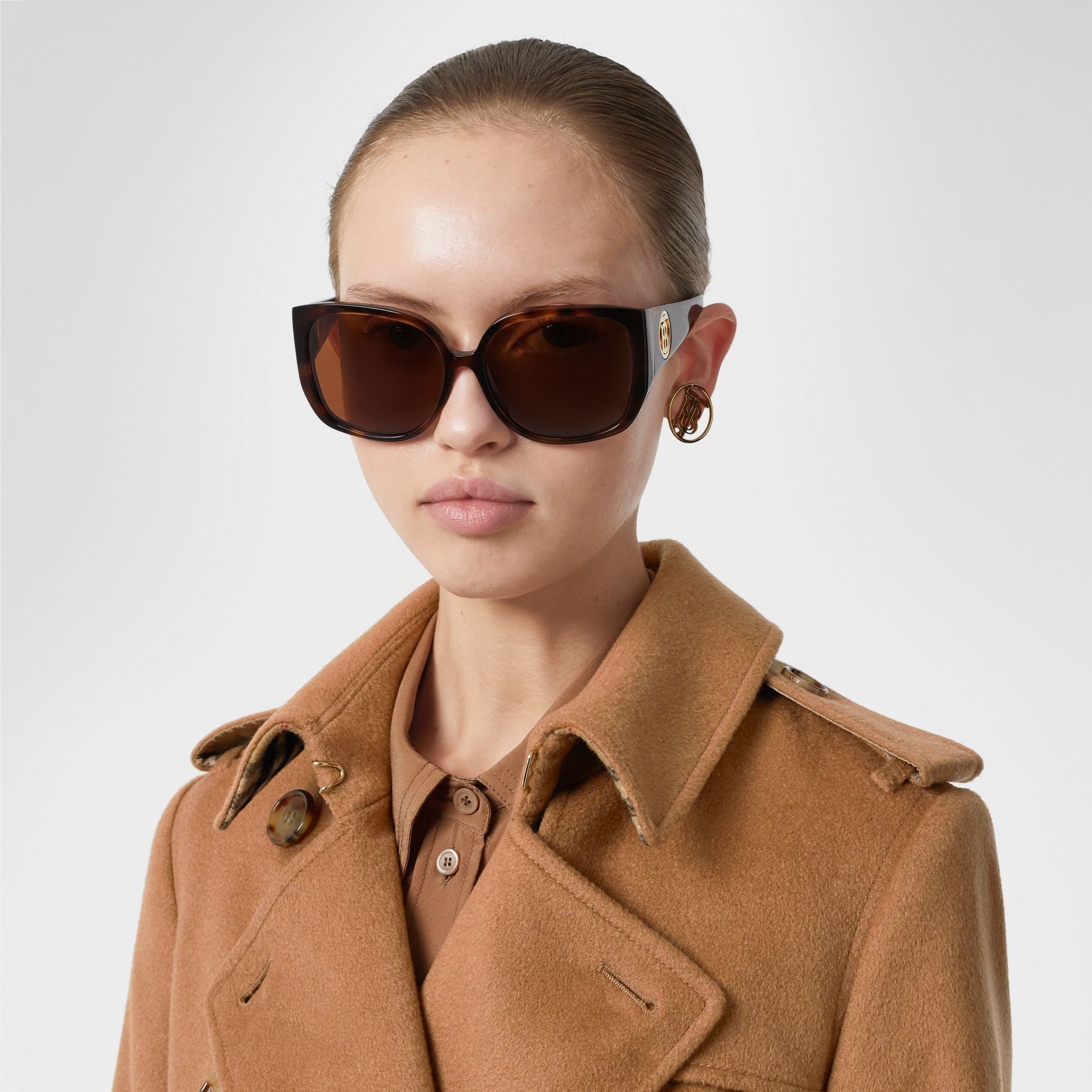 Cashmere Trench Coat in Bronze - Women | Burberry United Kingdom - gallery image 1