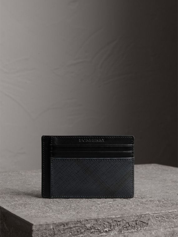 London Check Card Case in Navy/black - Men | Burberry United Kingdom - cell image 3