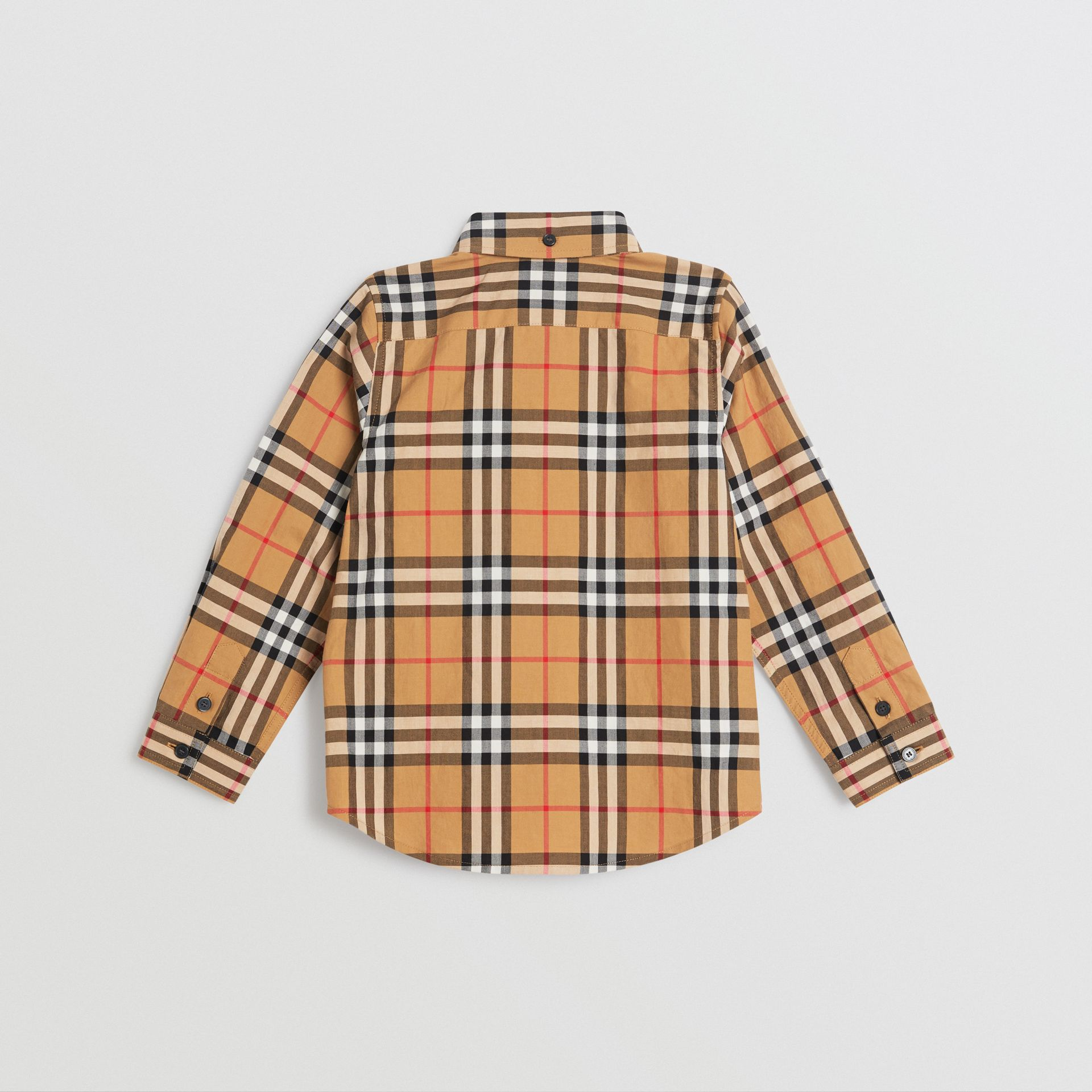 Vintage Check Cotton Shirt in Antique Yellow | Burberry United Kingdom - gallery image 4