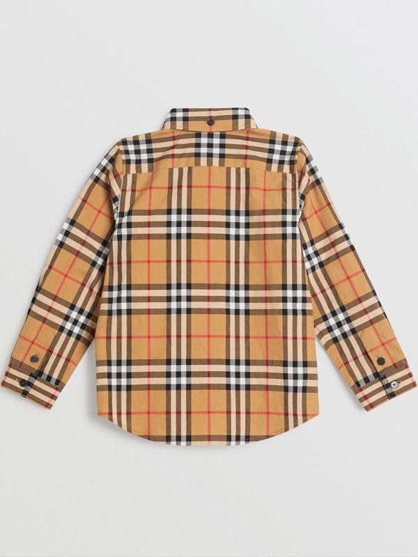 버튼 다운 칼라 빈티지 체크 셔츠 (앤티크 옐로)   Burberry - cell image 3