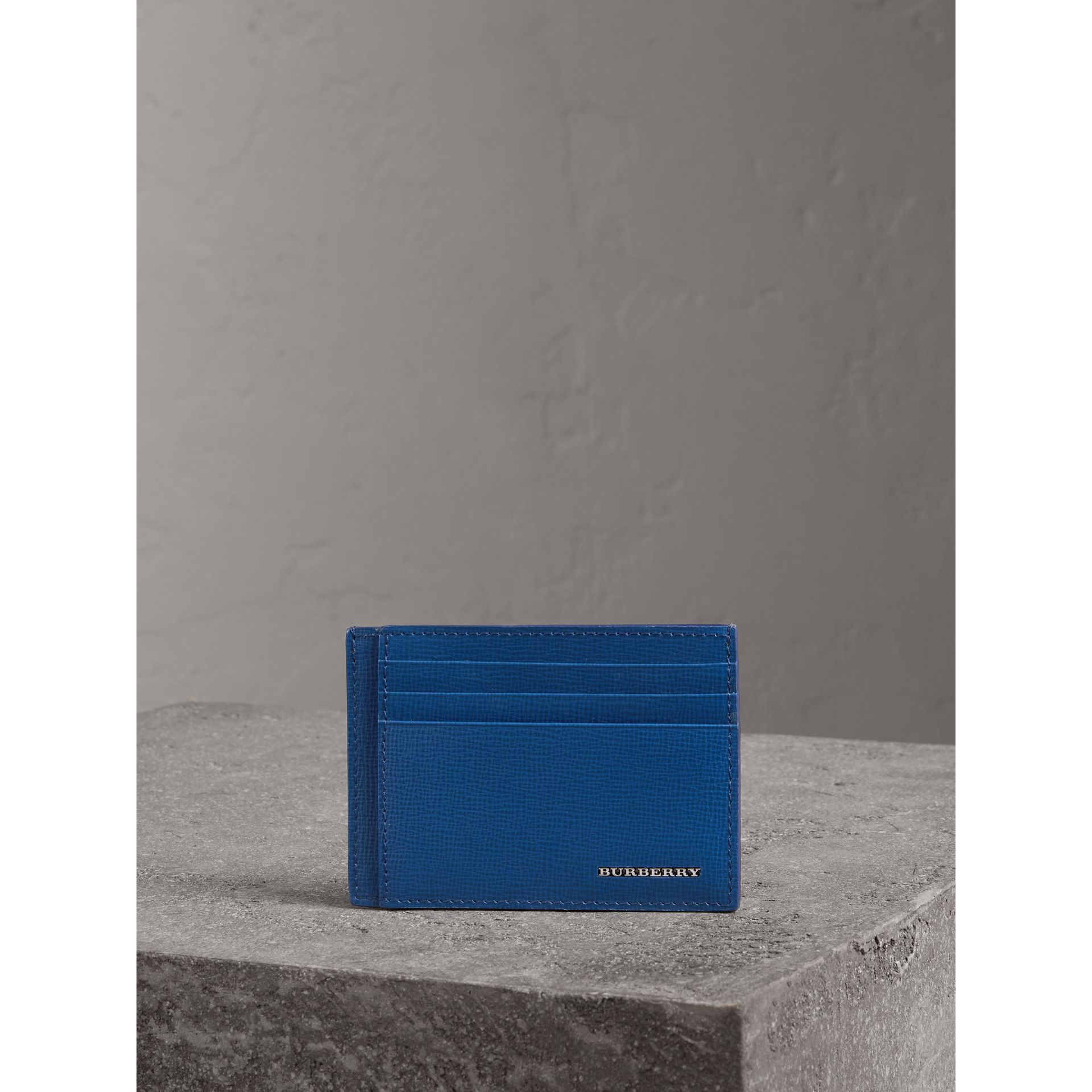 London Leather Card Case in Deep Blue | Burberry United Kingdom - gallery image 3