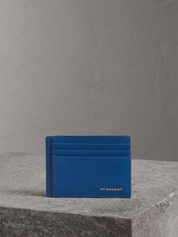 London Leather Card Case in Deep Blue - Men | Burberry - cell image 3