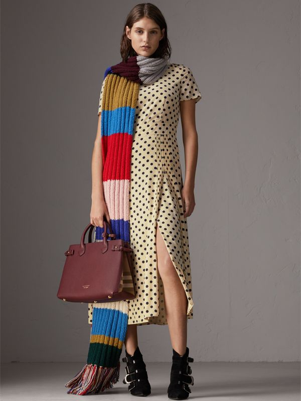 The Banner House 格紋皮革中型包 (紅木色) - 女款 | Burberry - cell image 2
