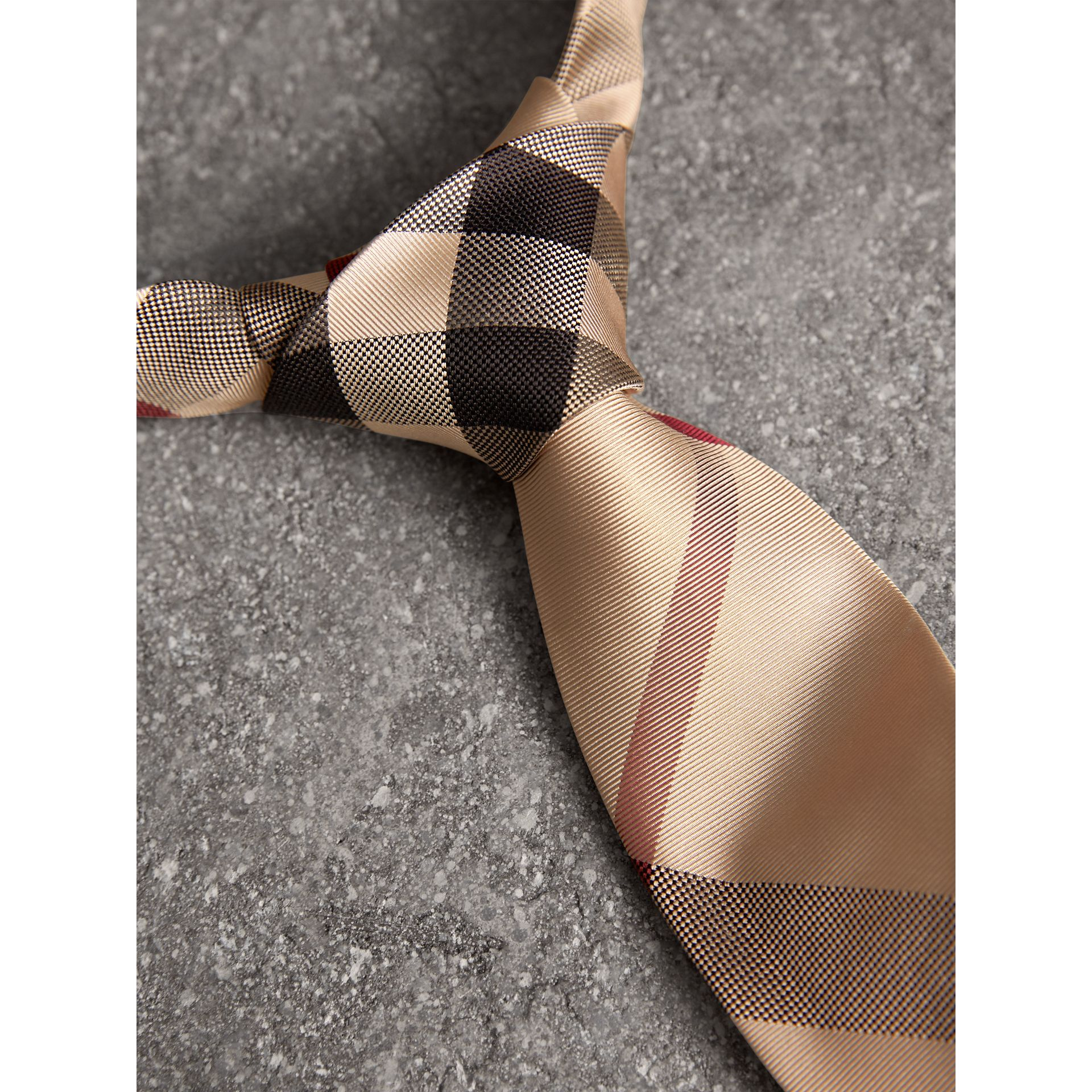 Modern Cut Check Silk Tie in New Classic - Men | Burberry - gallery image 1