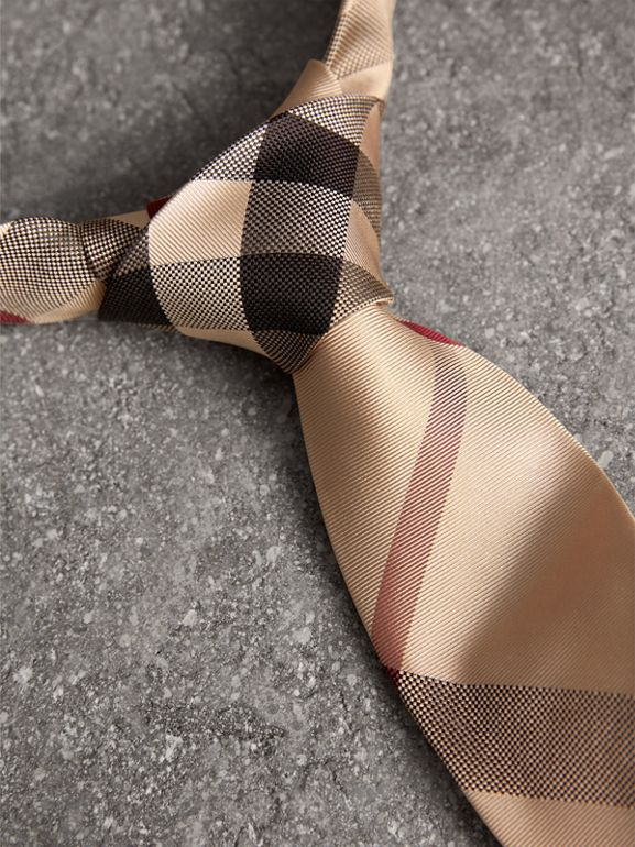 Modern Cut Check Silk Tie in New Classic - Men | Burberry - cell image 1