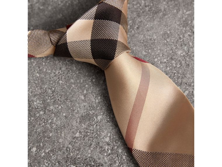 Modern Cut Check Silk Tie in New Classic - Men | Burberry United Kingdom - cell image 1