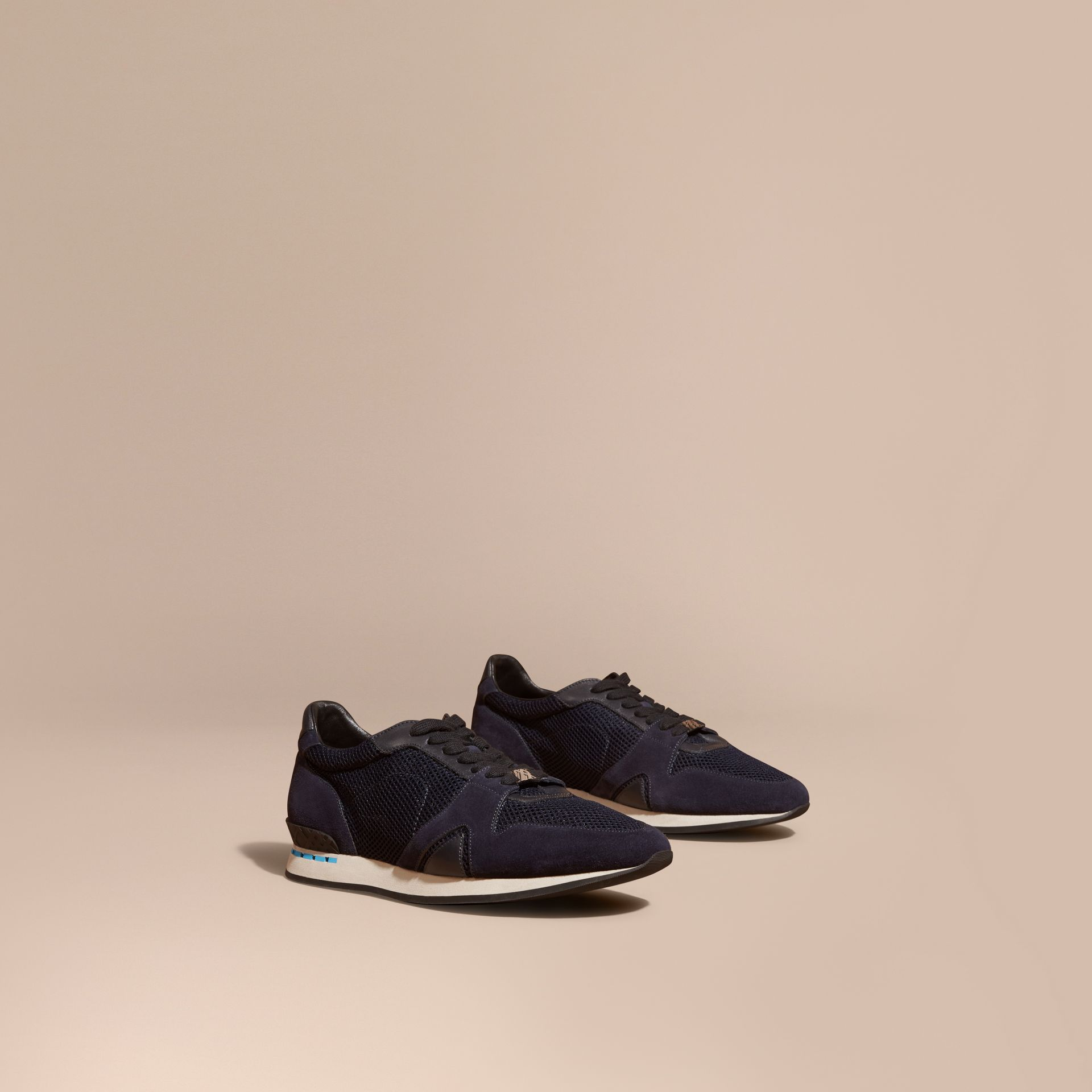 Navy The Field Sneaker in Suede and Mesh Navy - gallery image 1