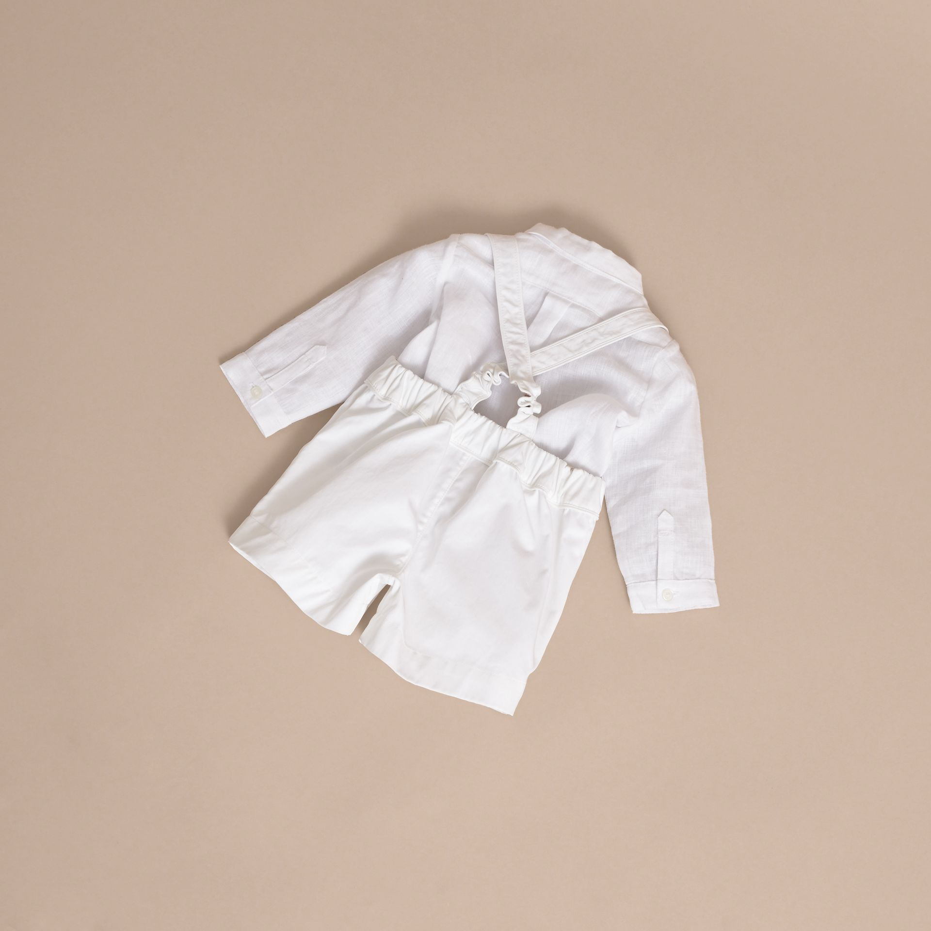 Shirt and Shorts Two-piece Baby Gift Set - Children | Burberry - gallery image 4