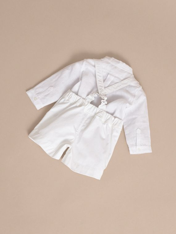 Shirt and Shorts Two-piece Baby Gift Set - Children | Burberry - cell image 3