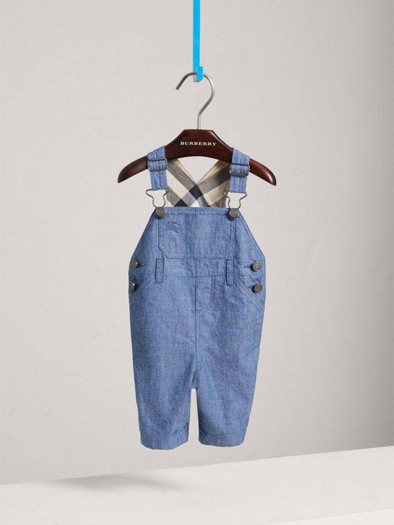 Japanese Denim Dungarees in Stone Blue