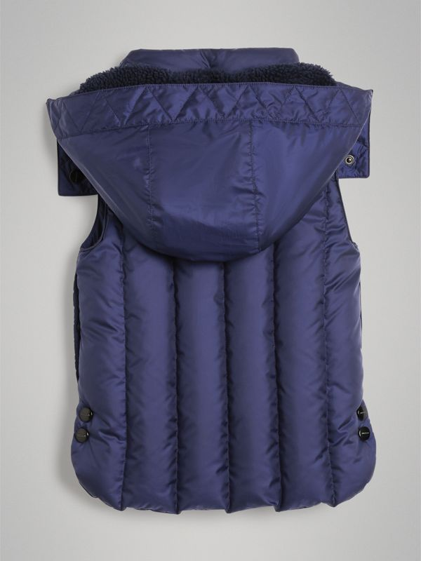 Detachable Hood Down-filled Gilet in Navy - Boy | Burberry Hong Kong - cell image 3