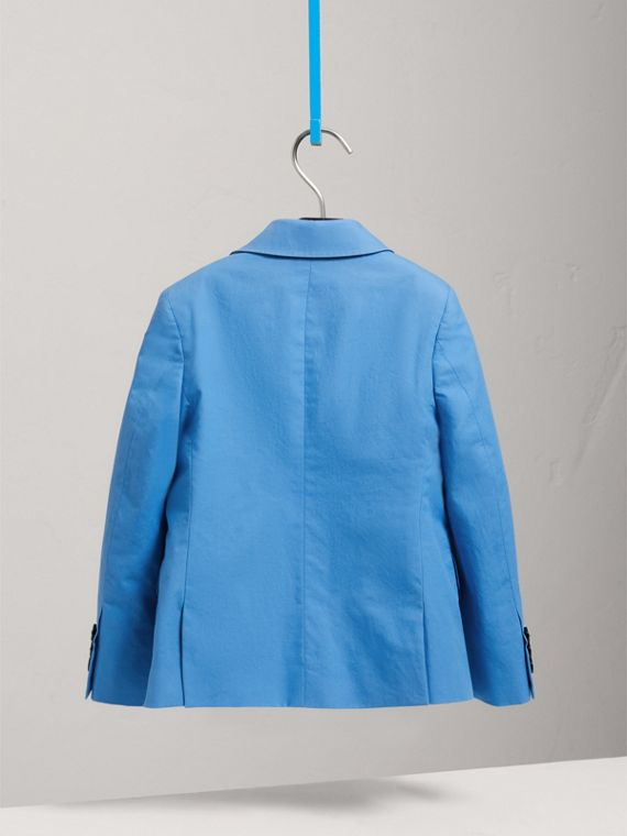 Cotton Poplin Blazer in Azure Blue - Boy | Burberry United States - cell image 3