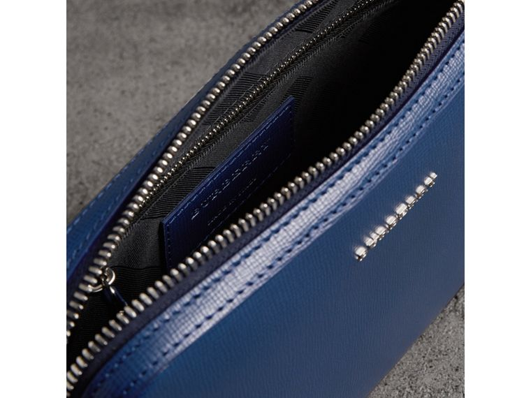 London Leather Pouch in Deep Blue | Burberry United States - cell image 4