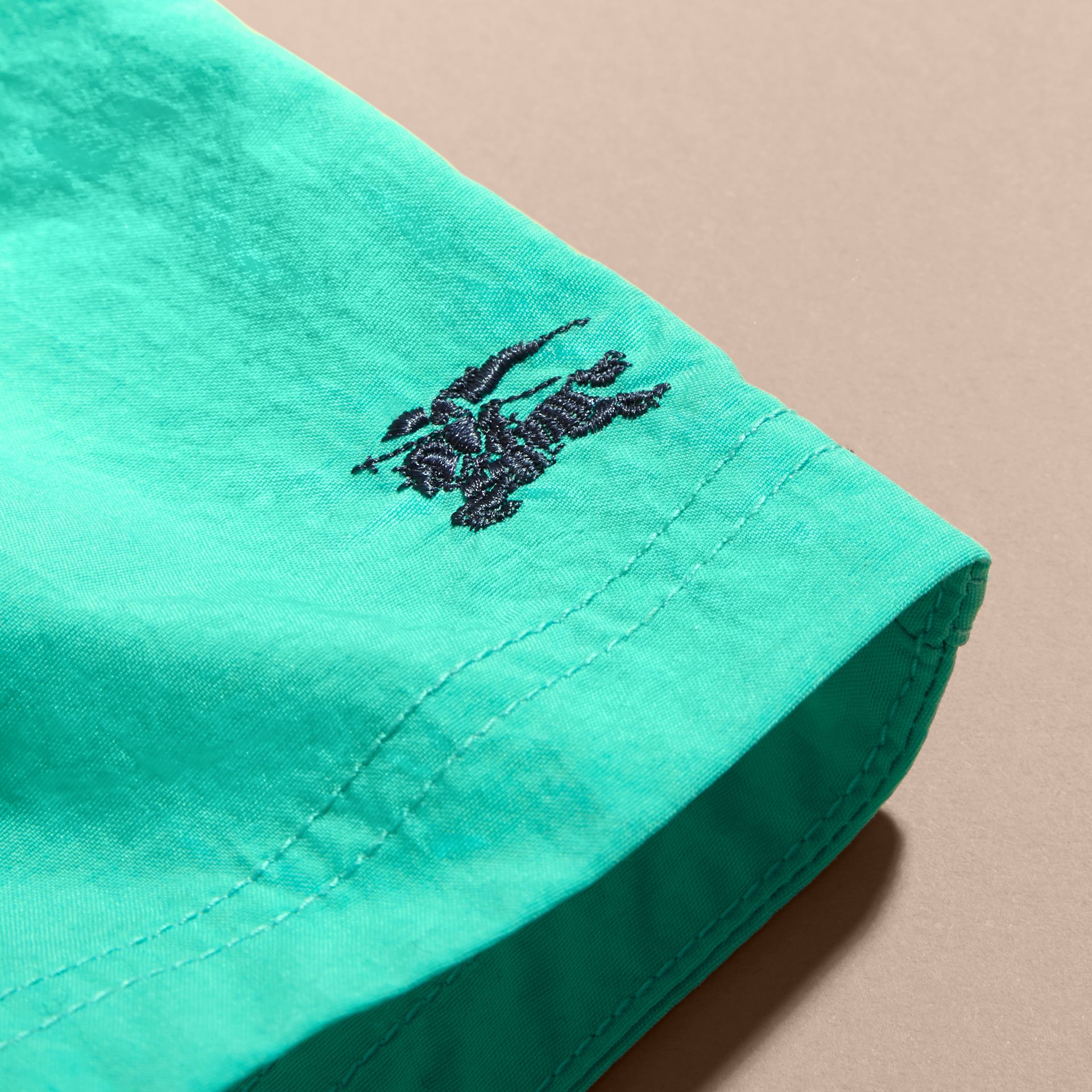 Quick-dry Swim Shorts in Aqua Green | Burberry - gallery image 2