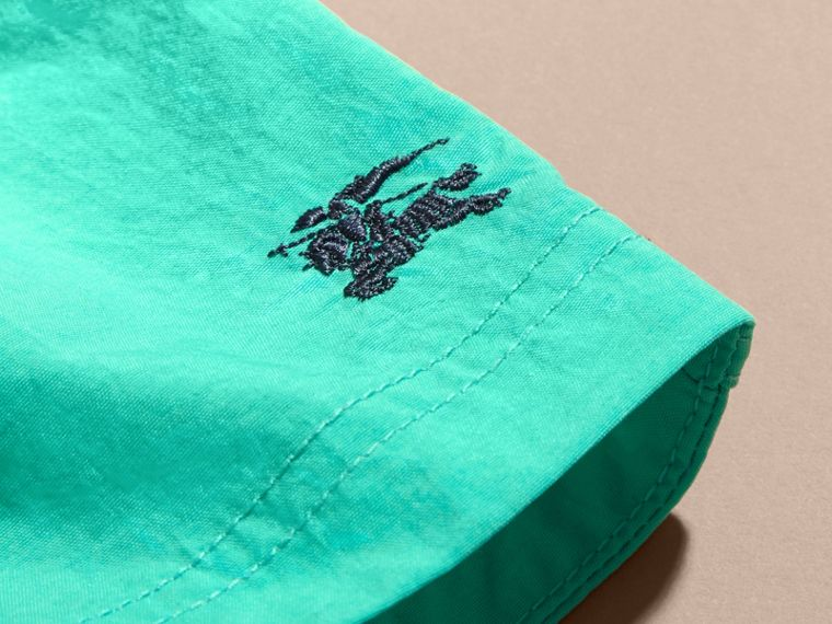 Quick-dry Swim Shorts in Aqua Green | Burberry - cell image 1