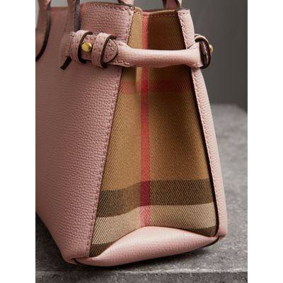 Burberry - The Baby Banner en cuir et coton House check - 2
