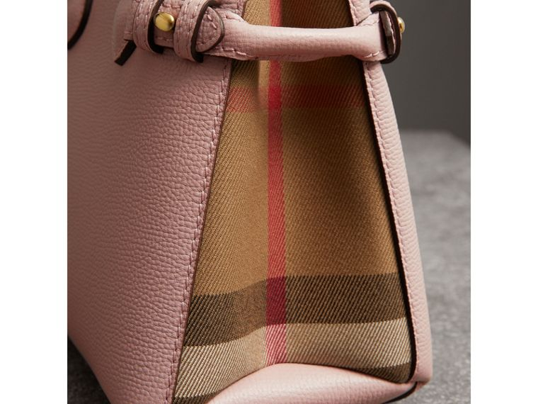 Borsa The Baby Banner in pelle con motivo House check (Orchidea Chiaro) - Donna | Burberry - cell image 1