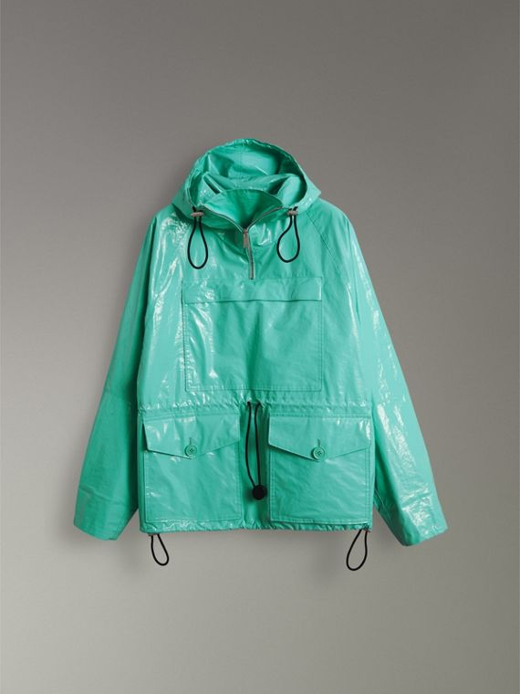 Laminated Cotton Anorak in Aqua Blue - Men | Burberry - cell image 3