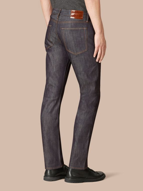 Mid indigo Straight Fit Deep Indigo Jeans - cell image 2