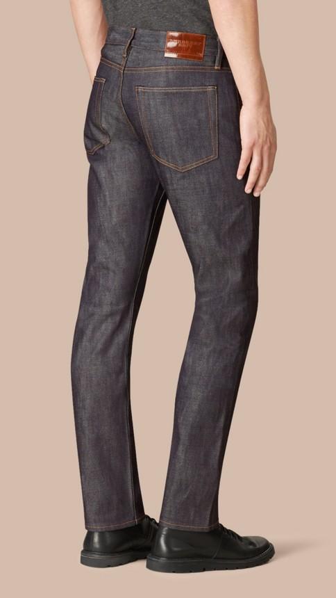 Mid indigo Straight Fit Deep Indigo Jeans - Image 3