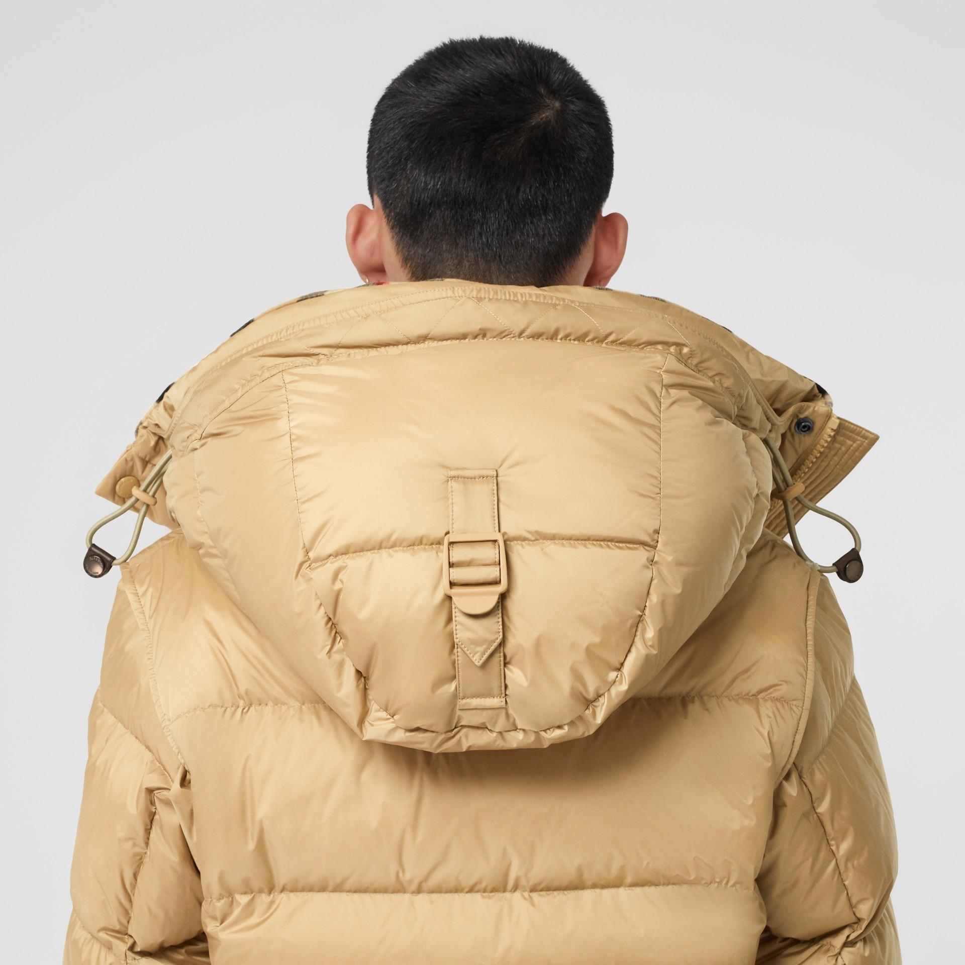 Detachable Sleeve Hooded Puffer Jacket in Honey - Men | Burberry - gallery image 4