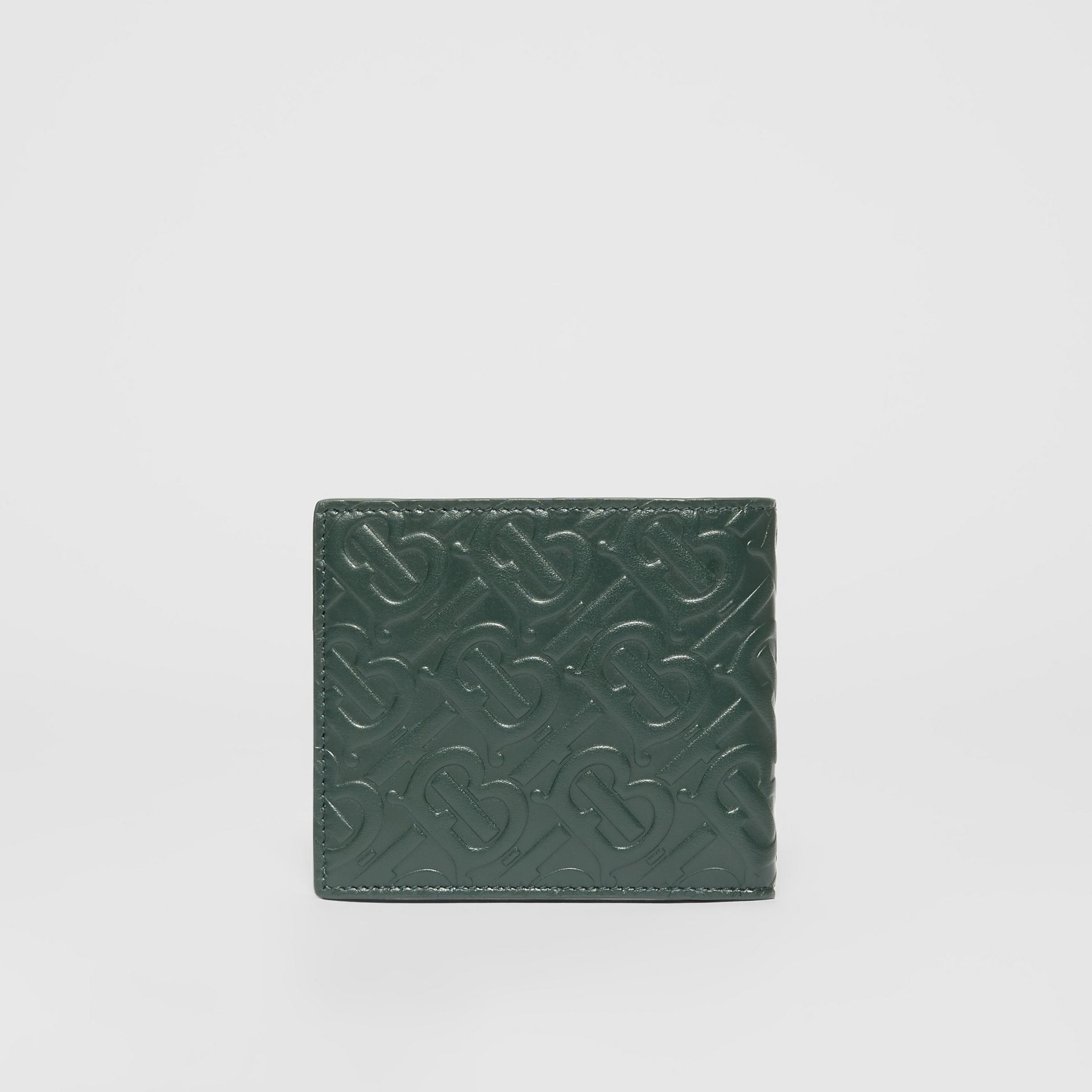 Monogram Leather International Bifold Wallet in Dark Pine Green - Men | Burberry - gallery image 4