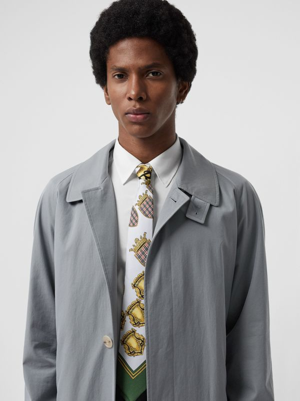 Modern Cut Archive Scarf Print Silk Tie in Pale Blue - Men | Burberry United States - cell image 2