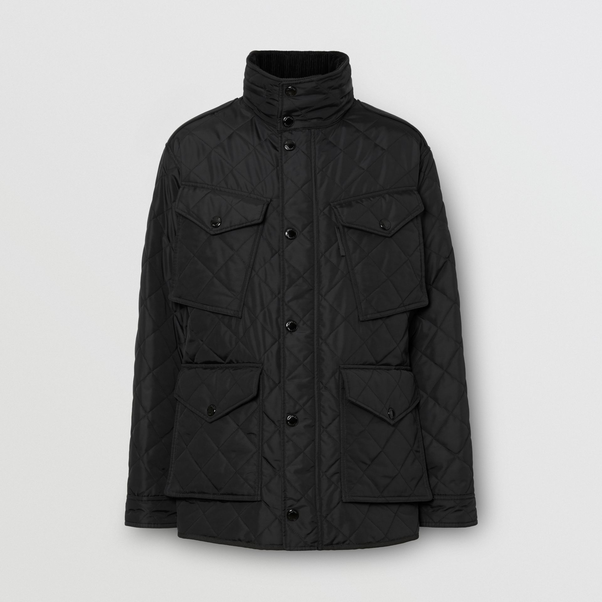 Packaway Hood Quilted Thermoregulated Field Jacket in Black - Men | Burberry Australia - gallery image 3