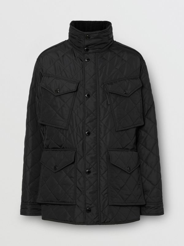 Packaway Hood Quilted Thermoregulated Field Jacket in Black - Men | Burberry United States - cell image 3