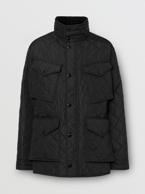 Jaqueta estilo militar termorregulada em matelassê com capuz embutido (Preto) - Homens | Burberry - cell image 3