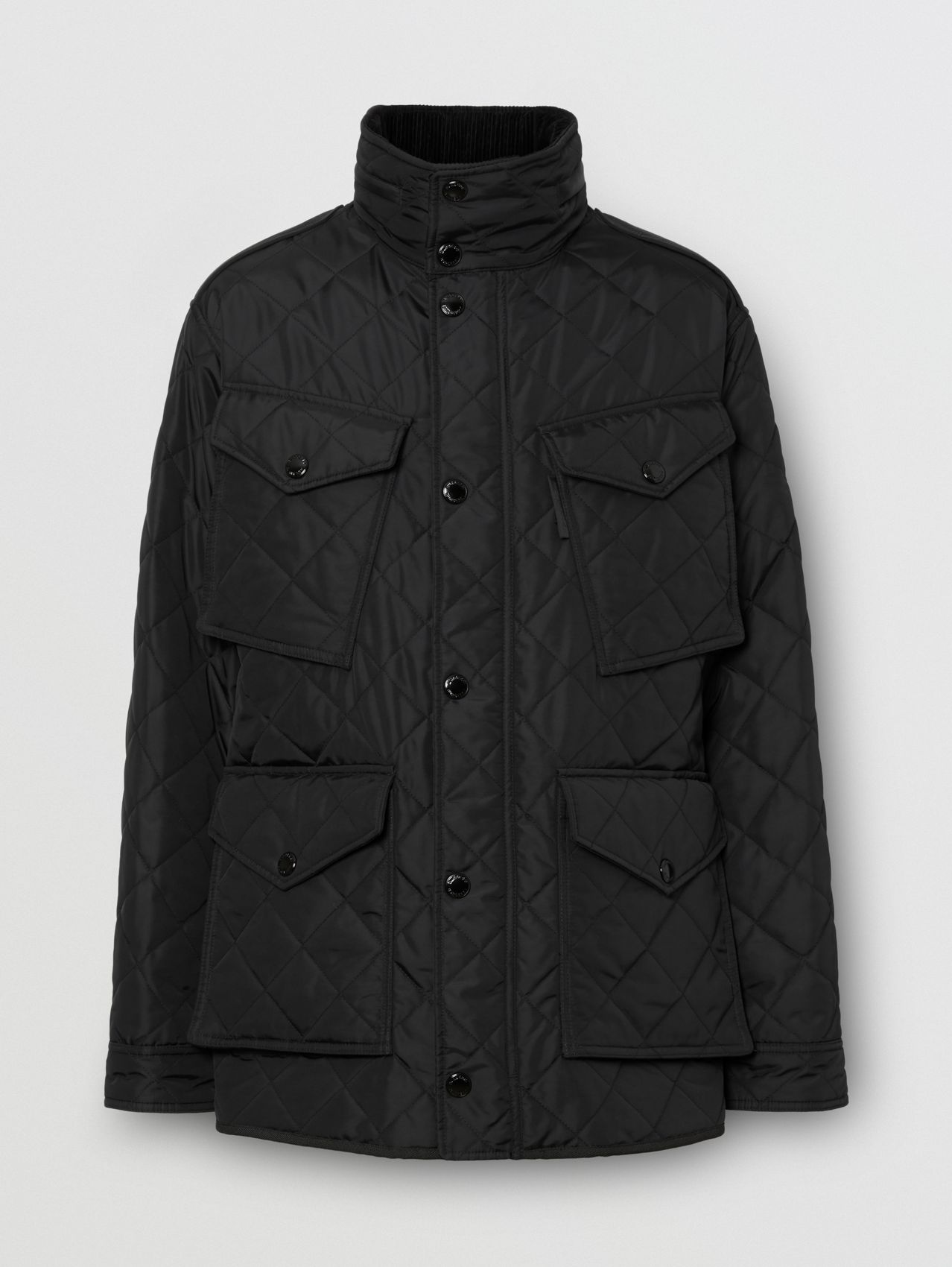 Packaway Hood Quilted Thermoregulated Field Jacket (Black)