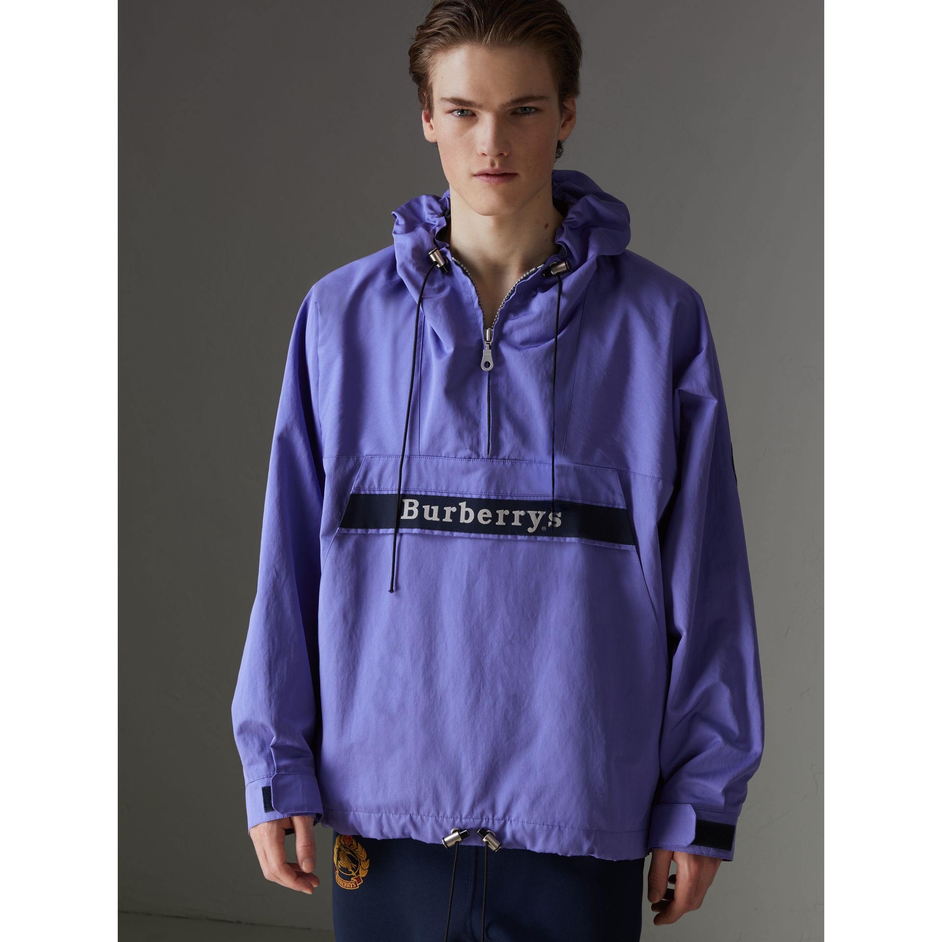 Reissued Hooded Anorak in Purple - Men | Burberry United States - gallery image 4