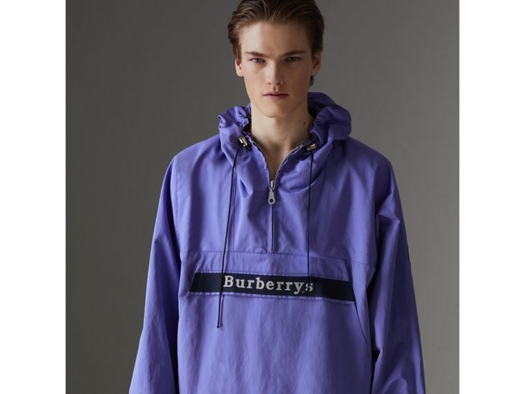 Reissued Hooded Anorak in Purple - Men | Burberry United States - cell image 4
