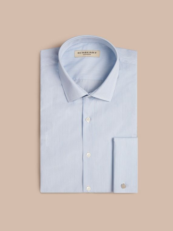 Modern Double-cuff Striped Cotton Poplin Shirt - cell image 3