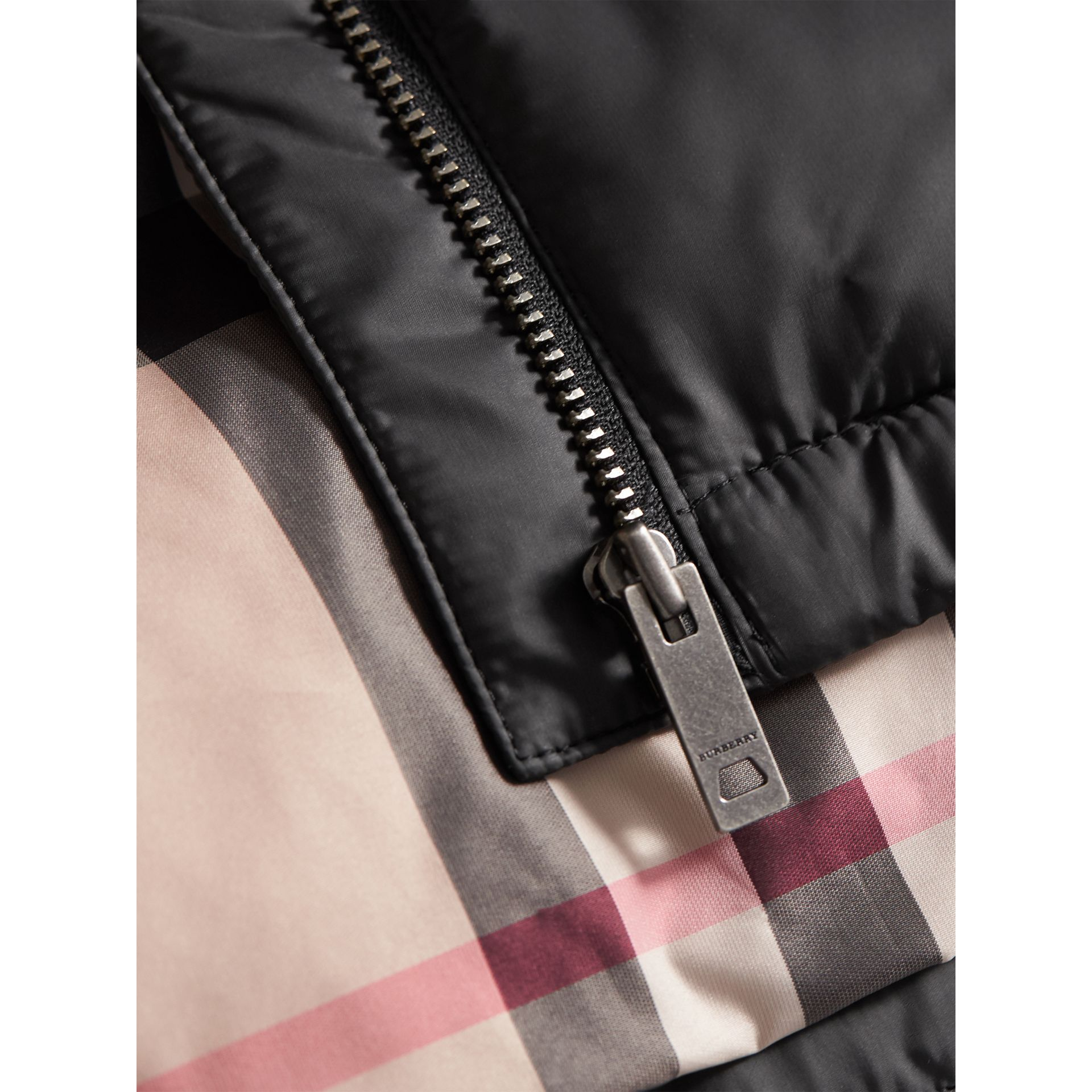 Down-filled Hooded Puffer Jacket in Charcoal | Burberry Australia - gallery image 2