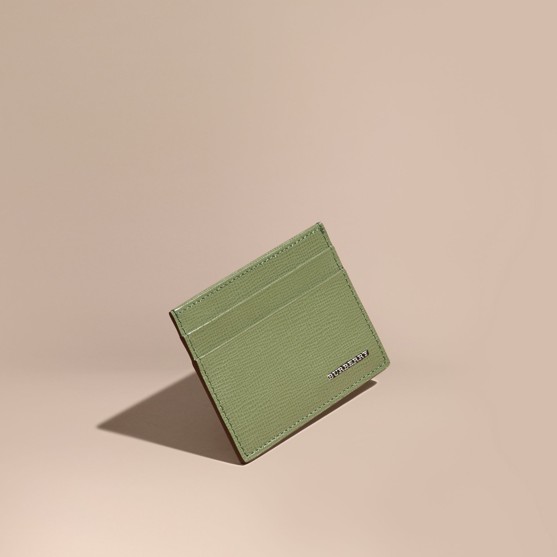 London Leather Card Case in Antique Green - gallery image 1
