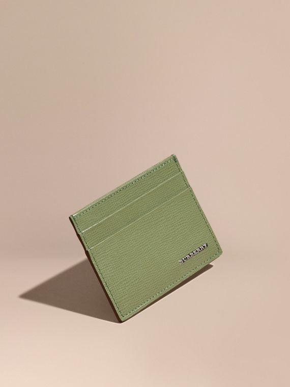 London Leather Card Case Antique Green