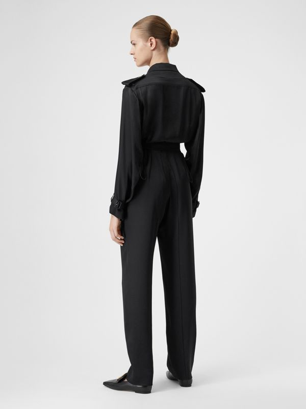 Silk Satin Jumpsuit in Black - Women | Burberry - cell image 2
