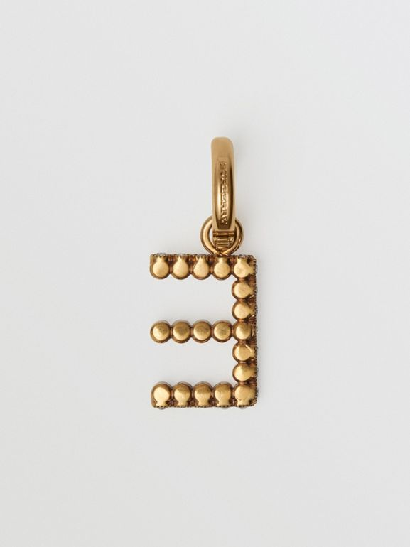 Crystal 'E' Alphabet Charm - Women | Burberry - cell image 1