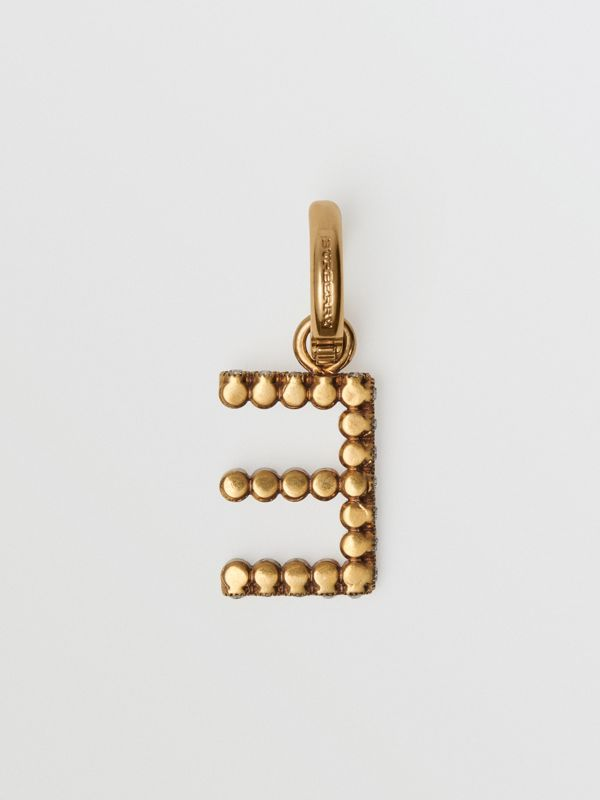 Crystal 'E' Alphabet Charm - Women | Burberry - cell image 3