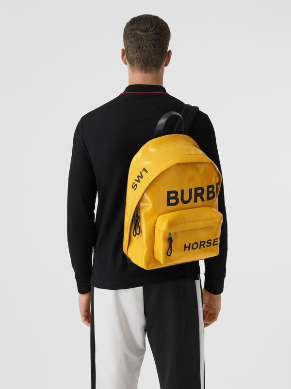 Horseferry Print Coated Canvas Backpack in Yellow | Burberry - cell image 2