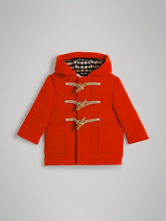 Montgomery in lana cotta (Rosso Arancione)