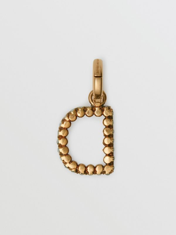 Crystal 'D' Alphabet Charm - Women | Burberry United Kingdom - cell image 3
