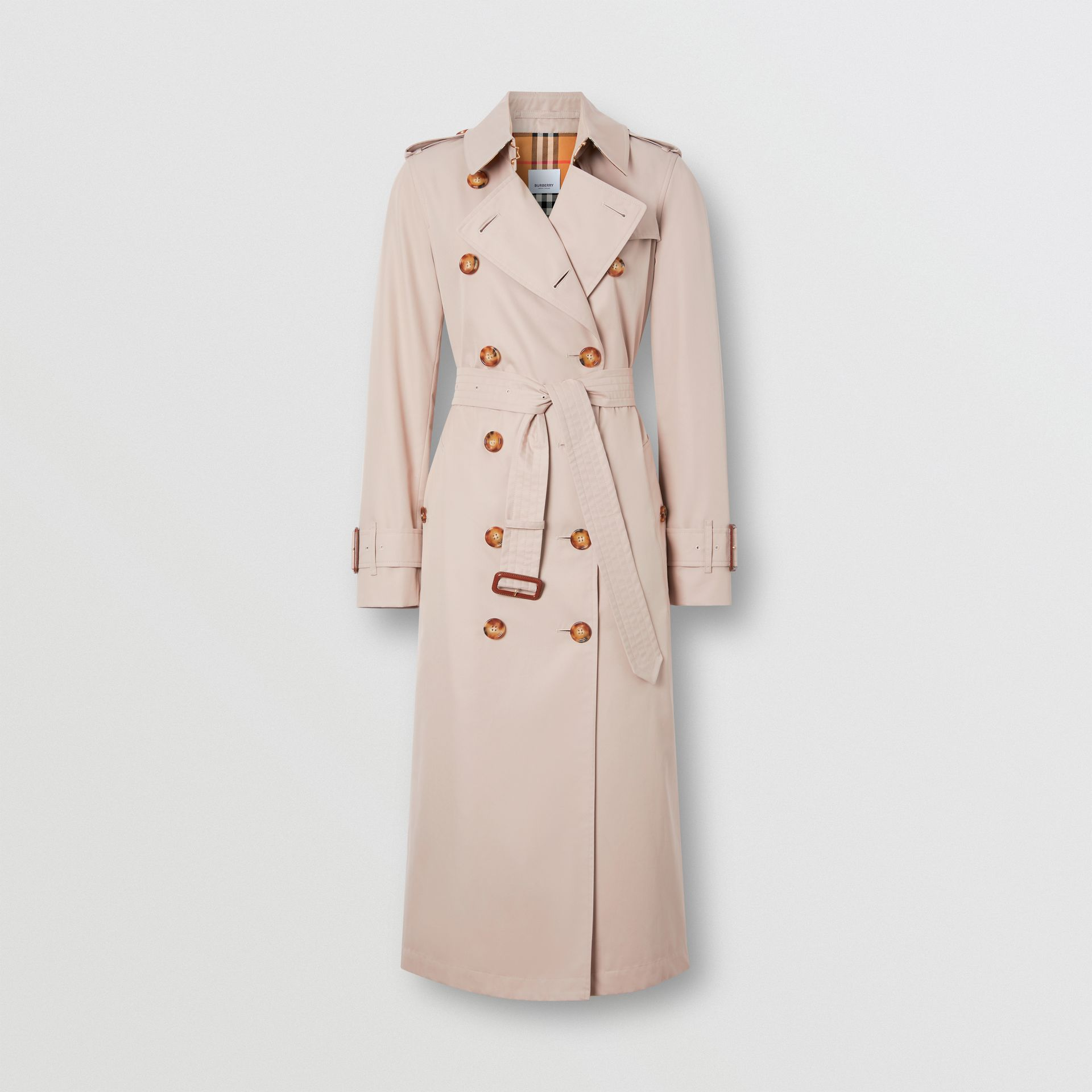 Cotton Gabardine Trench Coat in Pale Blush - Women | Burberry - gallery image 3