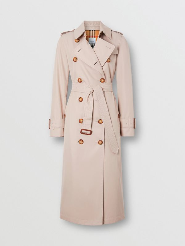 Cotton Gabardine Trench Coat in Pale Blush - Women | Burberry - cell image 3