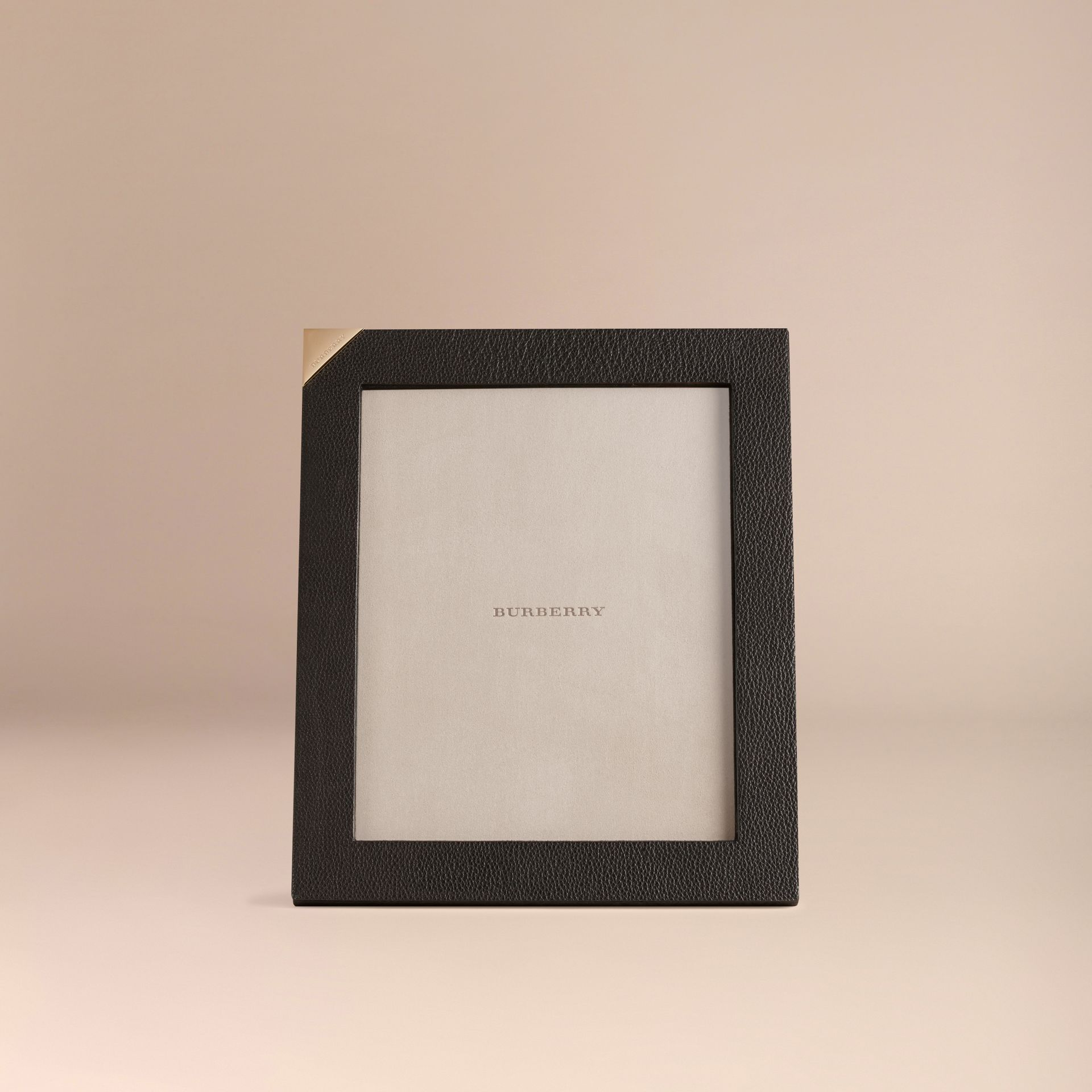 Black Large Grainy Leather Picture Frame - gallery image 2