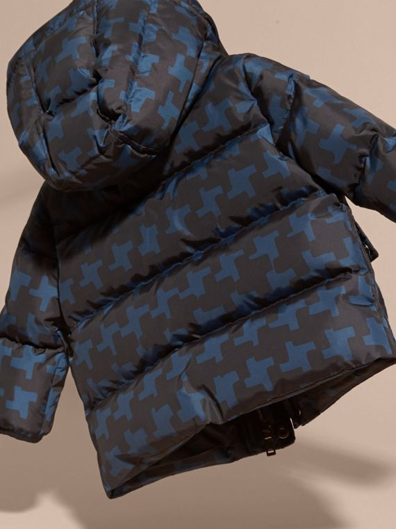 Mineral blue Geometric Print Down-filled Jacket Mineral Blue - cell image 3