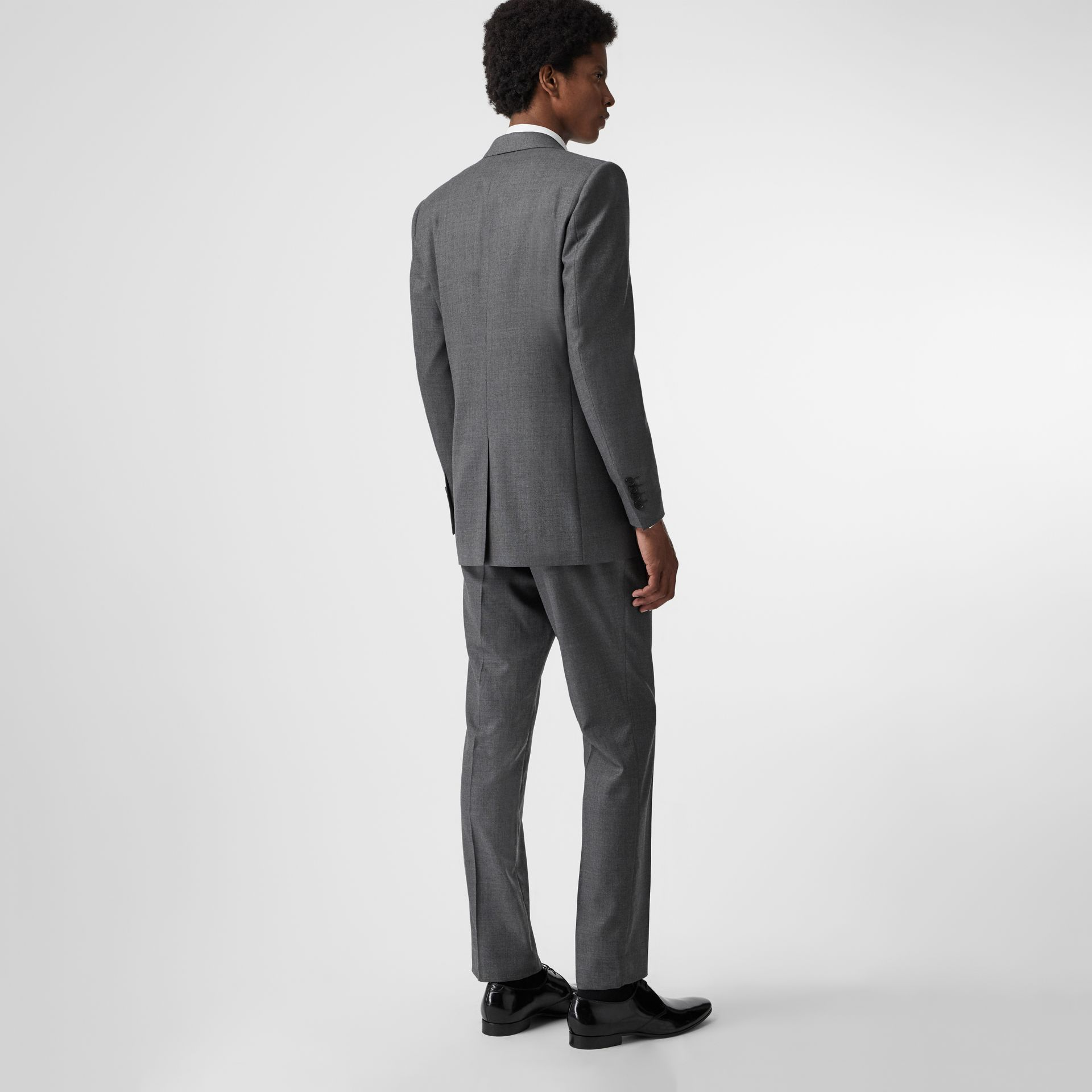Classic Fit Sharkskin Wool Suit in Mid Grey Melange - Men | Burberry United Kingdom - gallery image 2